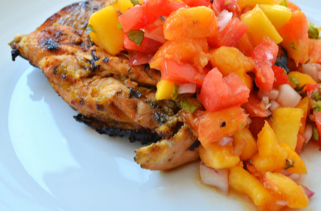 PEACHY CHICKEN WITH PEACH SALSA